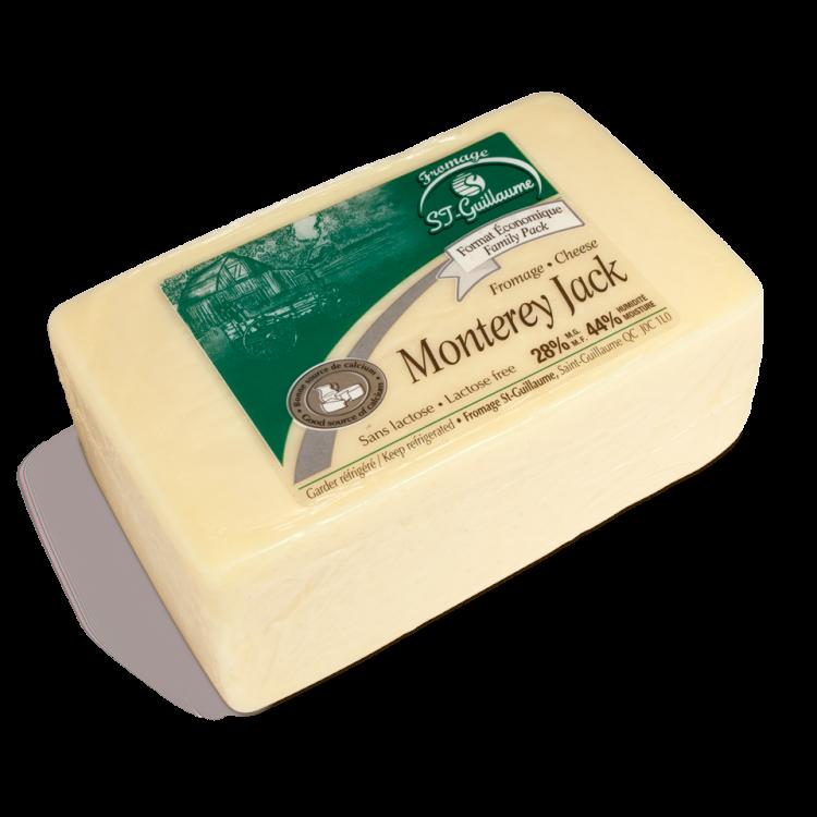 Monterey Jack St-Guillaume Saint-Guillaume (Quebec) Sin la corteza, la masa esté suave y elástica. Monterey Jack tiene un sabor suave, apenas tarta con aromas ligeros de avellanas