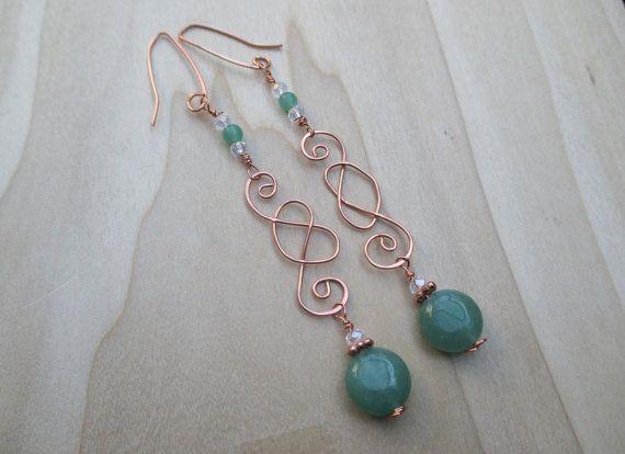 Celtic Knot Earrings Green Agate Earrings St Patricks Day by Banba