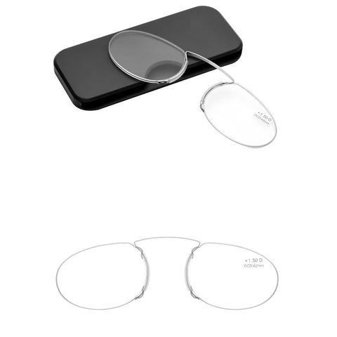 7b9dc93be8f New Nose Resting Pinching Portable Thin Pince-Nez Optics Reading Glasses No  Arm Old Men Women +1.00 +1.50 +2.00 +2.50 +3.0 +3.5