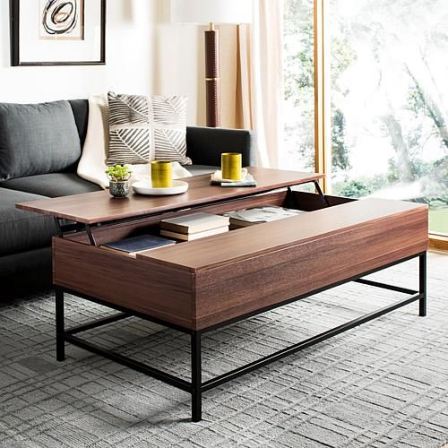 Safavieh Gina Contemporary LiftTop Coffee Table Brown Lift top
