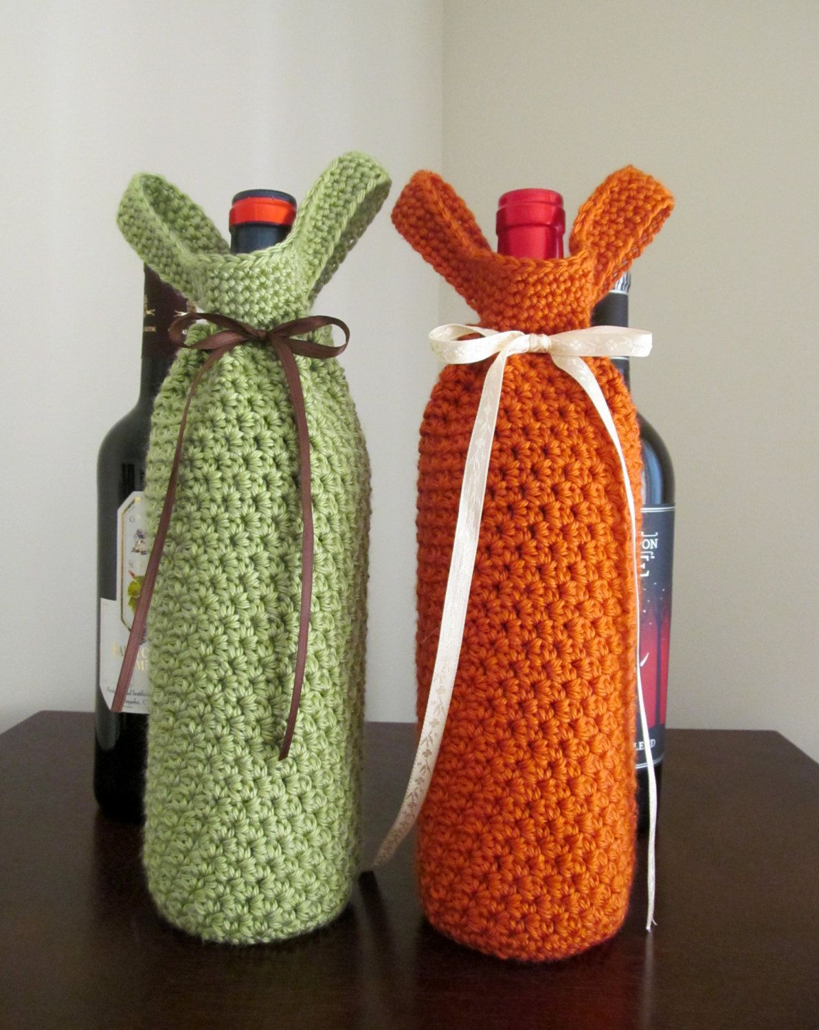 This listing is for a PDF crochet pattern not a finished product  Wine tote Skill level easy Instant Download link will be emailed to you once payment has cleared This pa...