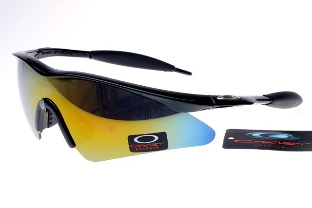 oakley mframe sunglasses black frame colorful lens 0908