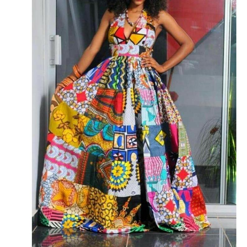 African Print maxi dress/Ankara Maxi dresses/Prom dresses/African print long gowns #africanprintdresses