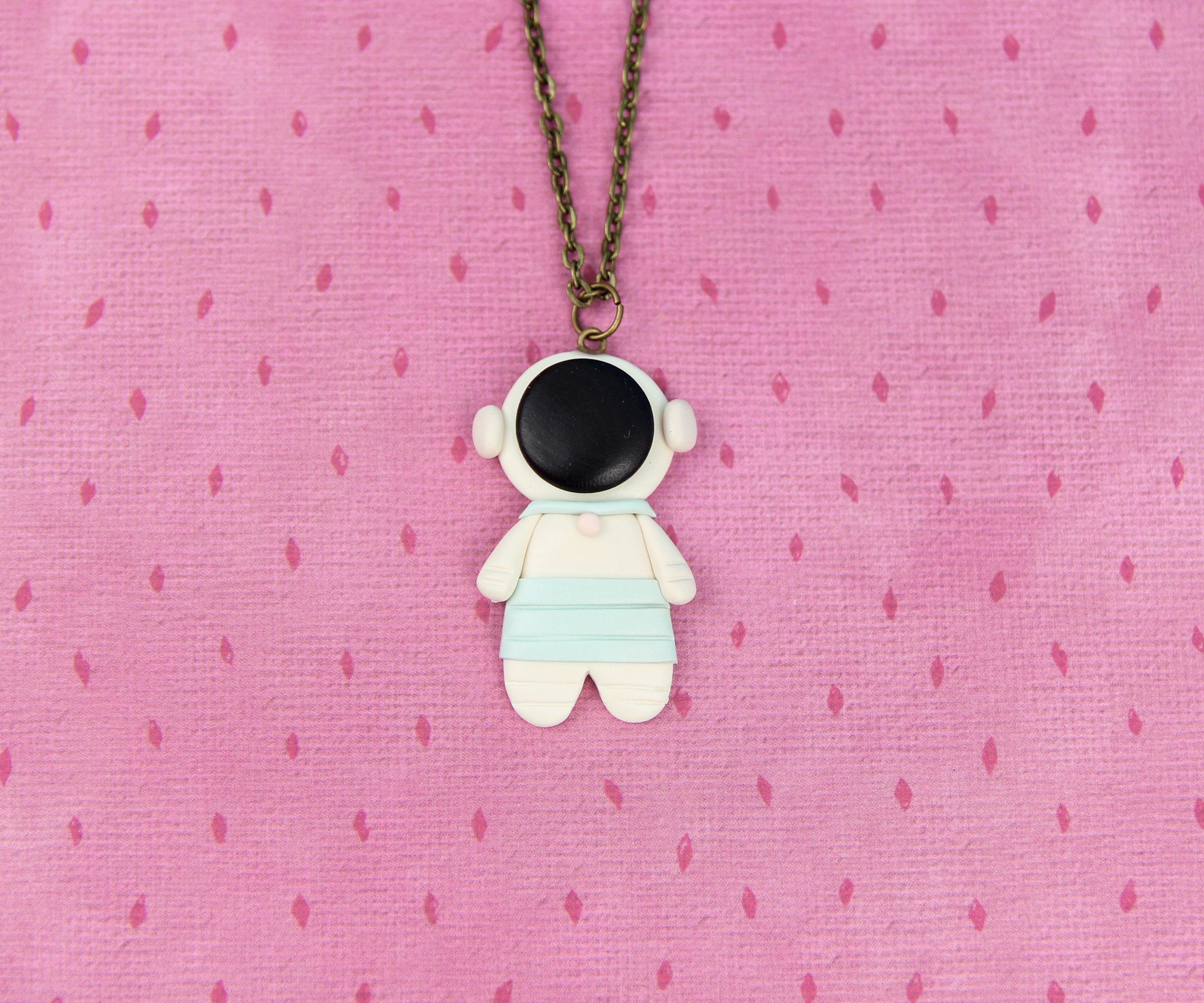 Astronaut necklace gift for kids space jewelry nasa