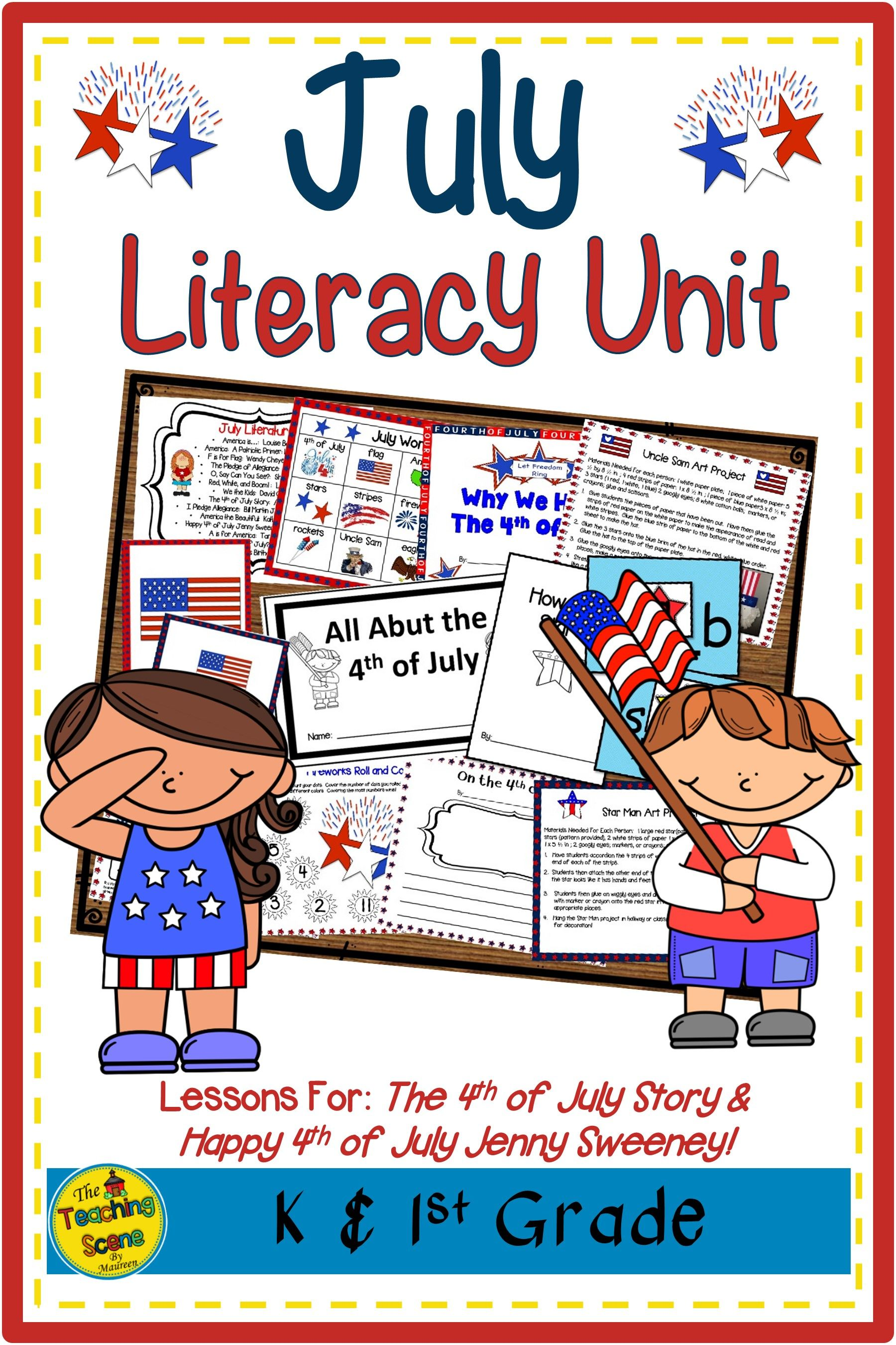 July Literacy Unit The 4th Of July Story Amp Happy 4th Of