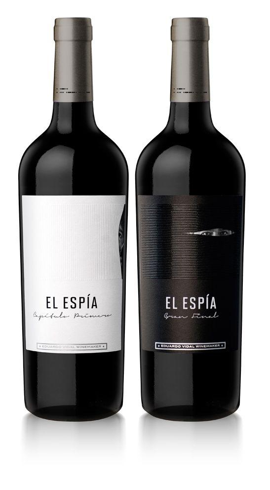 Diseño Etiqueta de Vino / Wine label Design  EL ESPIA - Eduardo Vidal Winemaker