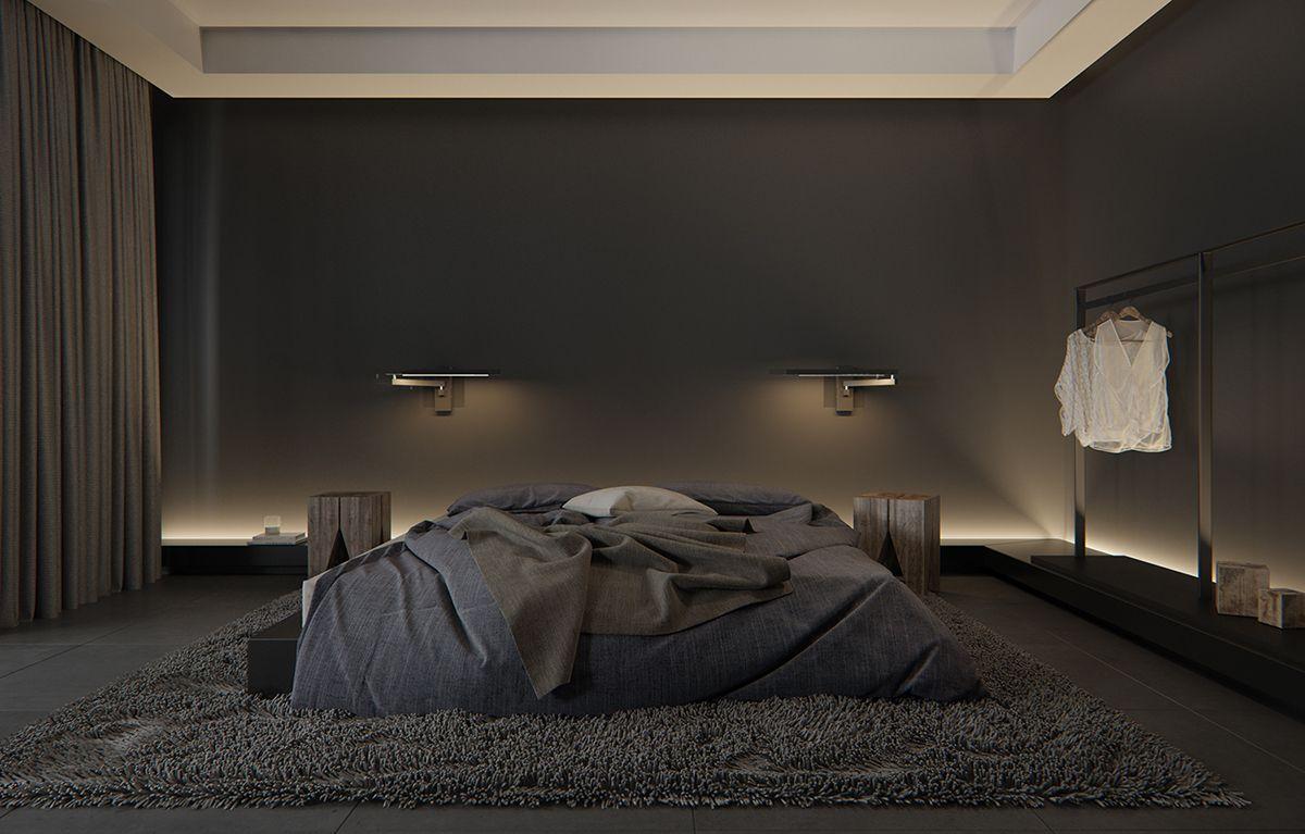 Black On Behance Luxurious Bedrooms Black Bedroom Design