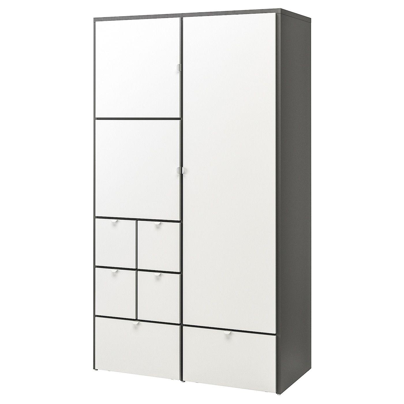 Visthus Kleiderschrank Grau Weiss Ikea Ikea Wardrobe