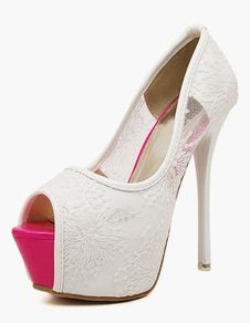 Stiletto Heel Mesh Peep Toe High Heels. Save Up to 70% Off on elite trend products at Milano using Coupon and Promo Codes.