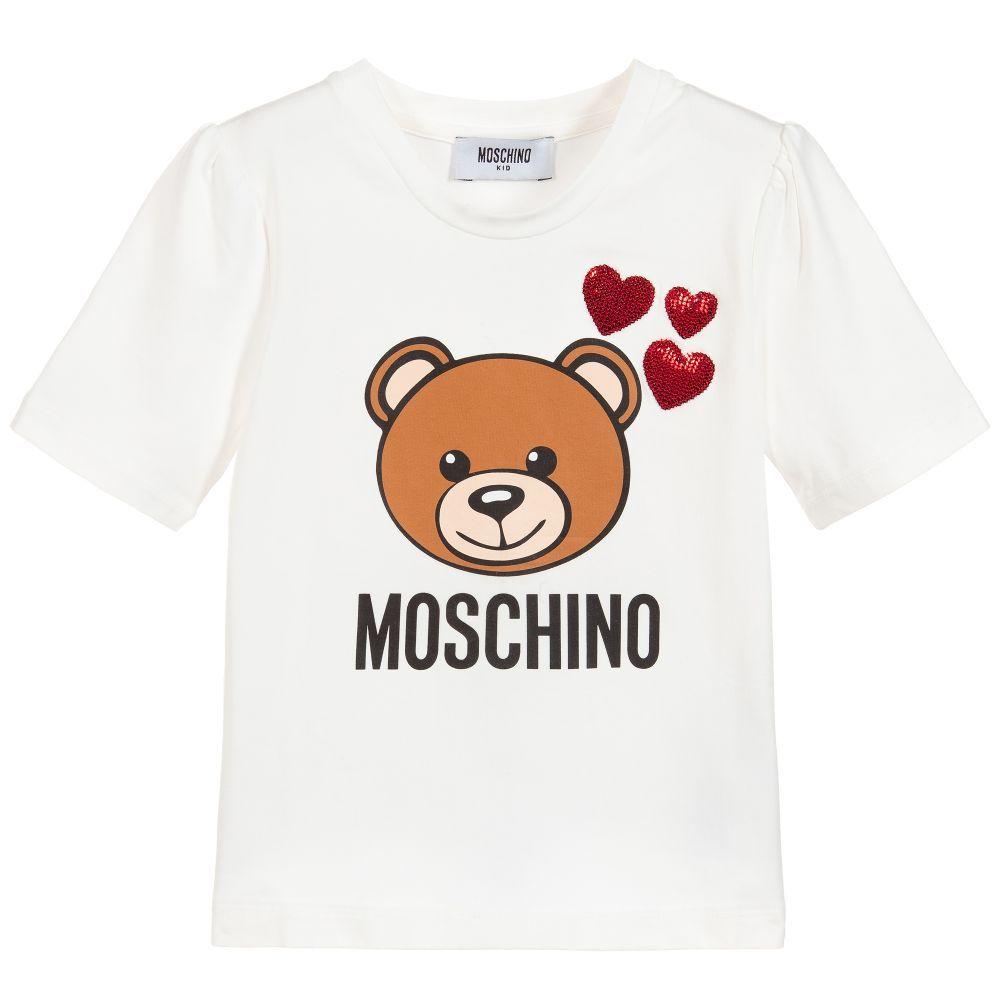 ddd94390369 Girls white T-shirt from Moschino Kid-Teen