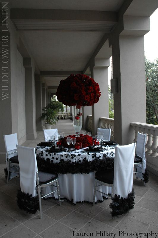 Blinged Out Wedding In Black And Red