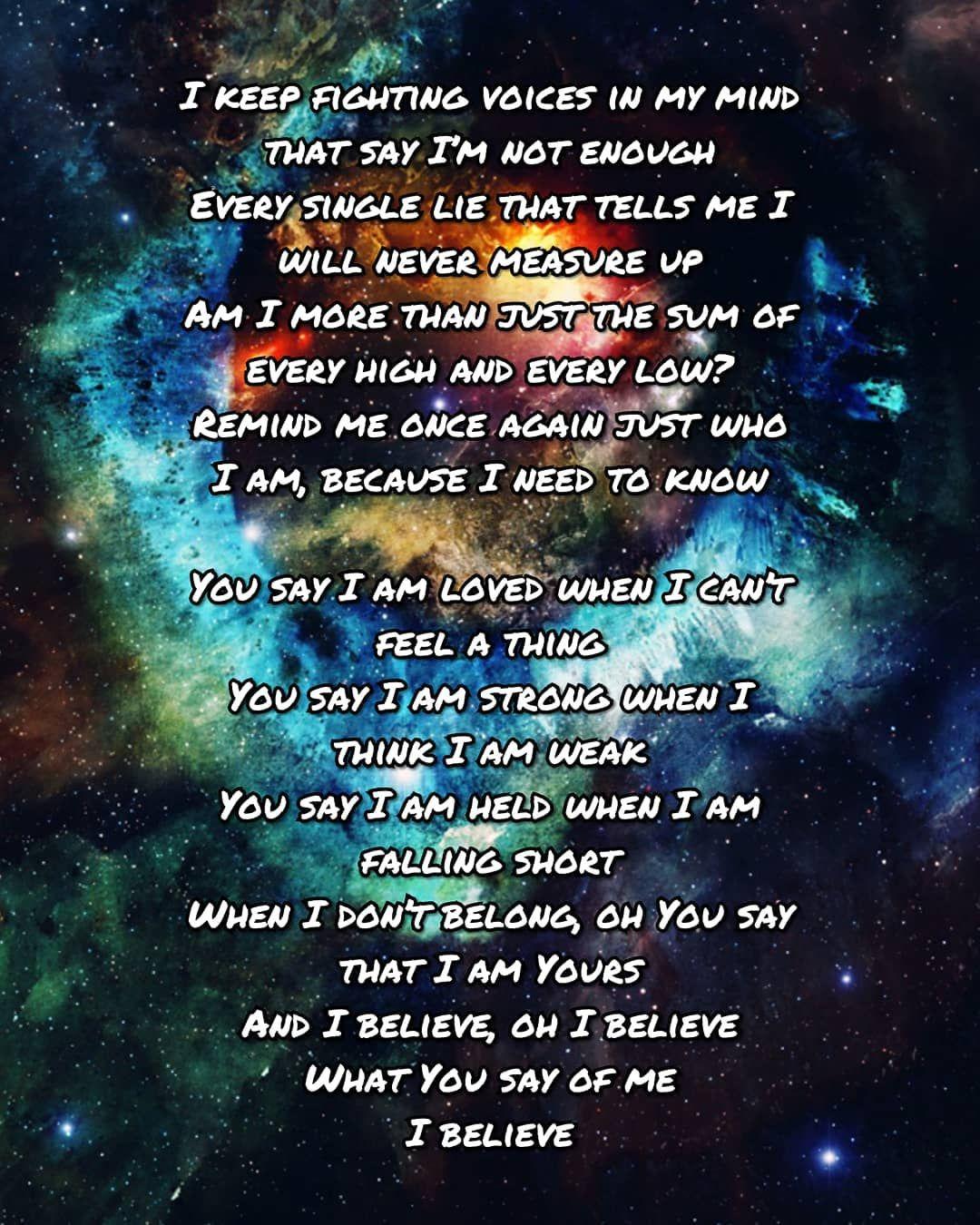 Lauren Daigle Lyrics • 'You Say' [Look Up Child Album ...