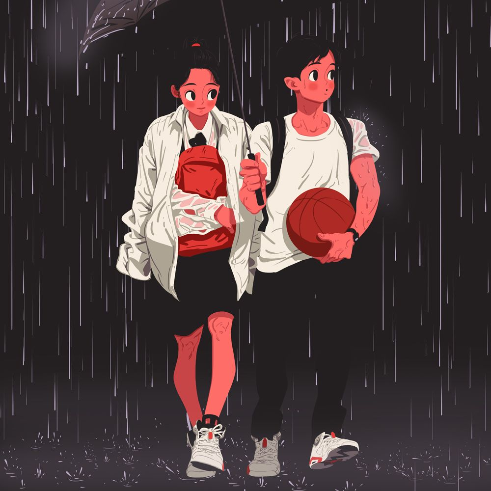 The way home from school, Together, Goodbye! — by Jungyoun Kim (3 of 5 in a set)