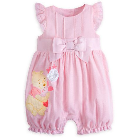 175734432b8b Winnie the Pooh and Piglet Woven Romper for Baby
