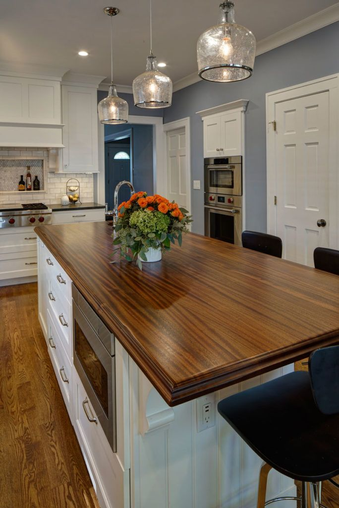 Distressed Sapele Mahogany Wood Kitchen Island Countertop https ...