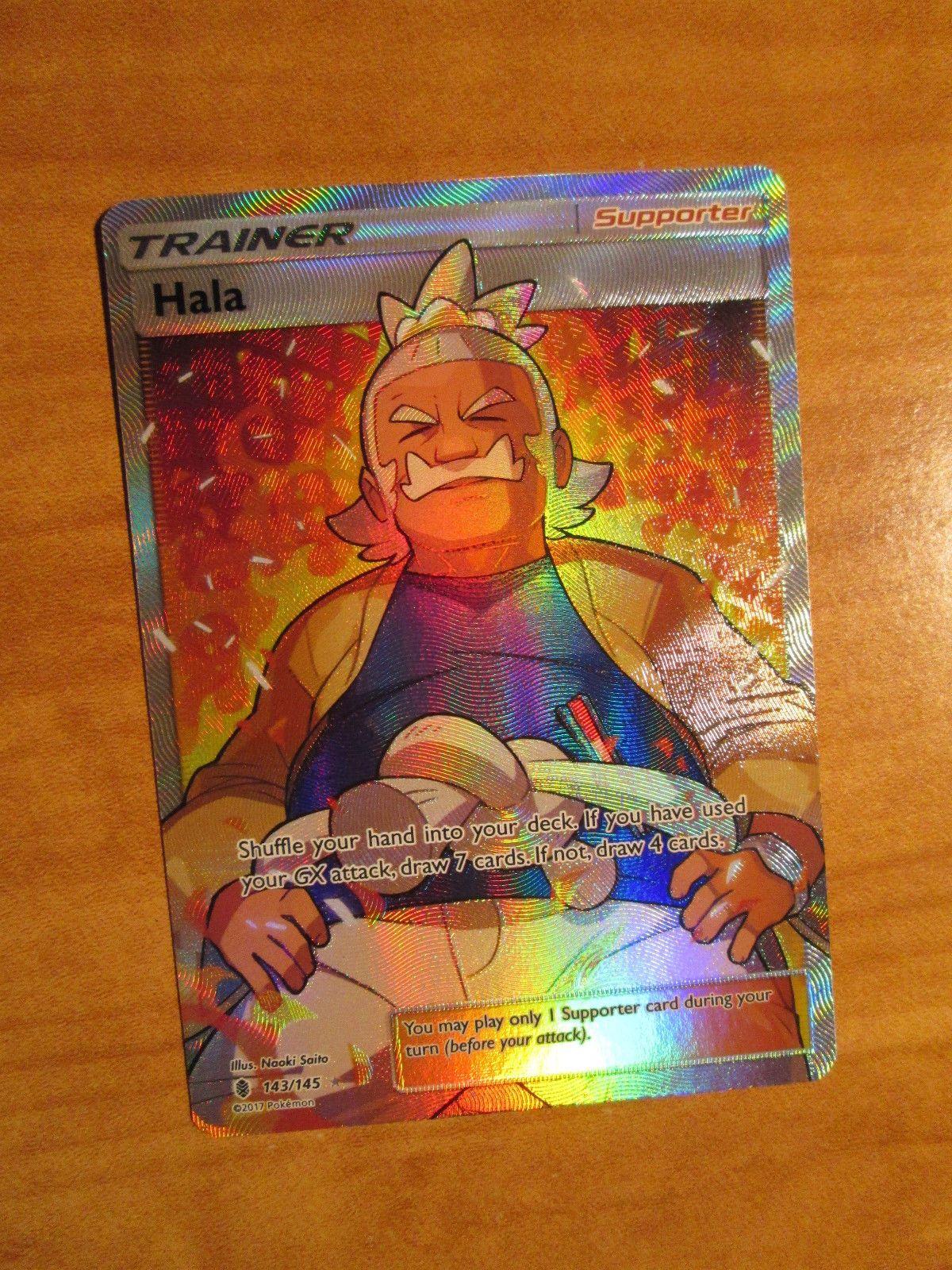 Hala Full Art 143//145 Guardians Rising Ultra Rare Near Mint Pokemon Card