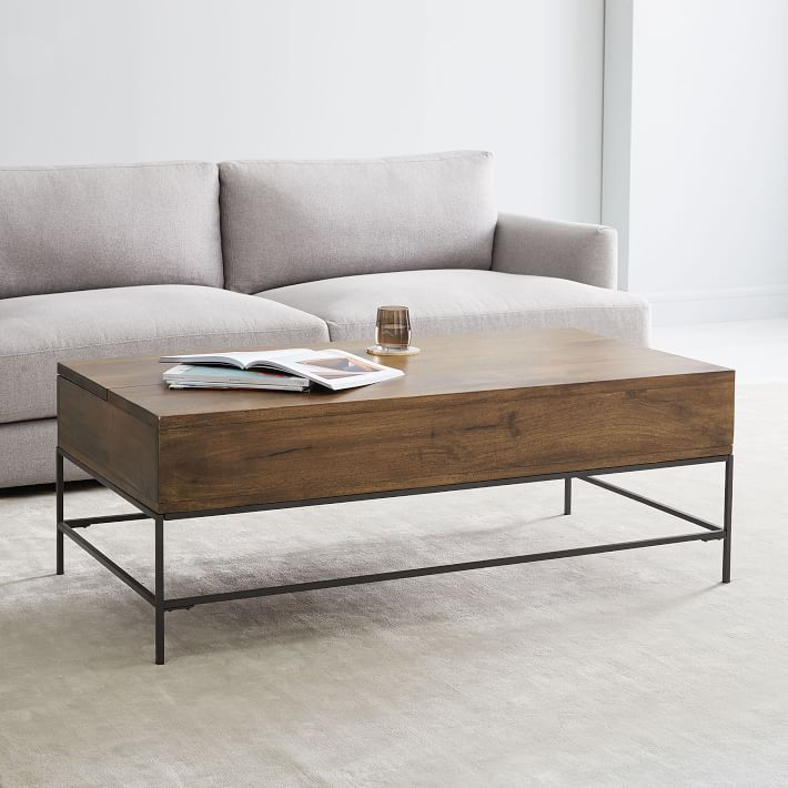 Industrial Storage Pop Up Coffee Table Large Cafe West Elm Coffee Table Coffee Table Wood Coffee Table With Storage