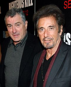 Robert DeNiro & Al Pacino. Two of my favorites. Both incredibly talented actors.