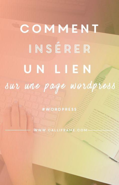 comment ins u00e9rer un lien dans un article sur wordpress