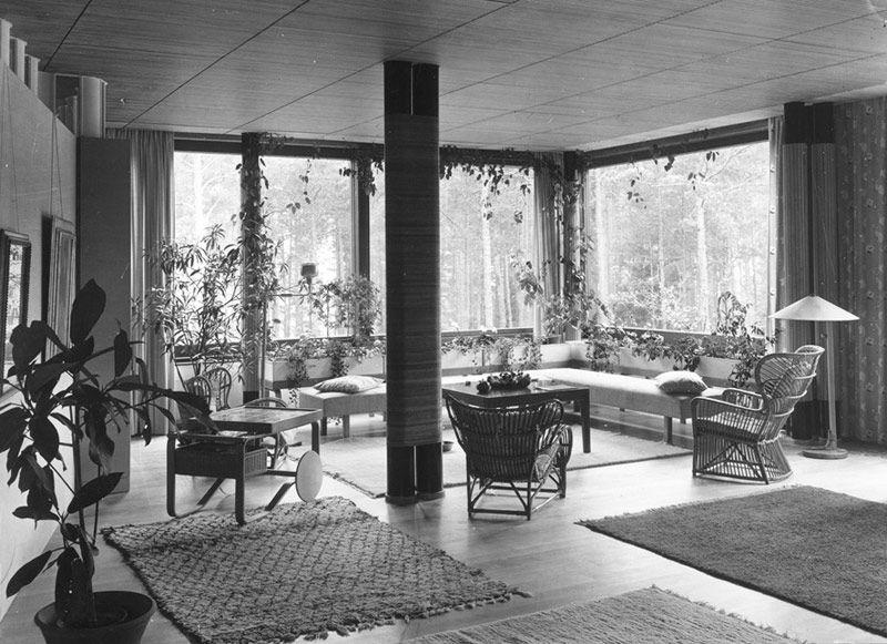 Large living room. Photo:  Alvar Aalto Museum.
