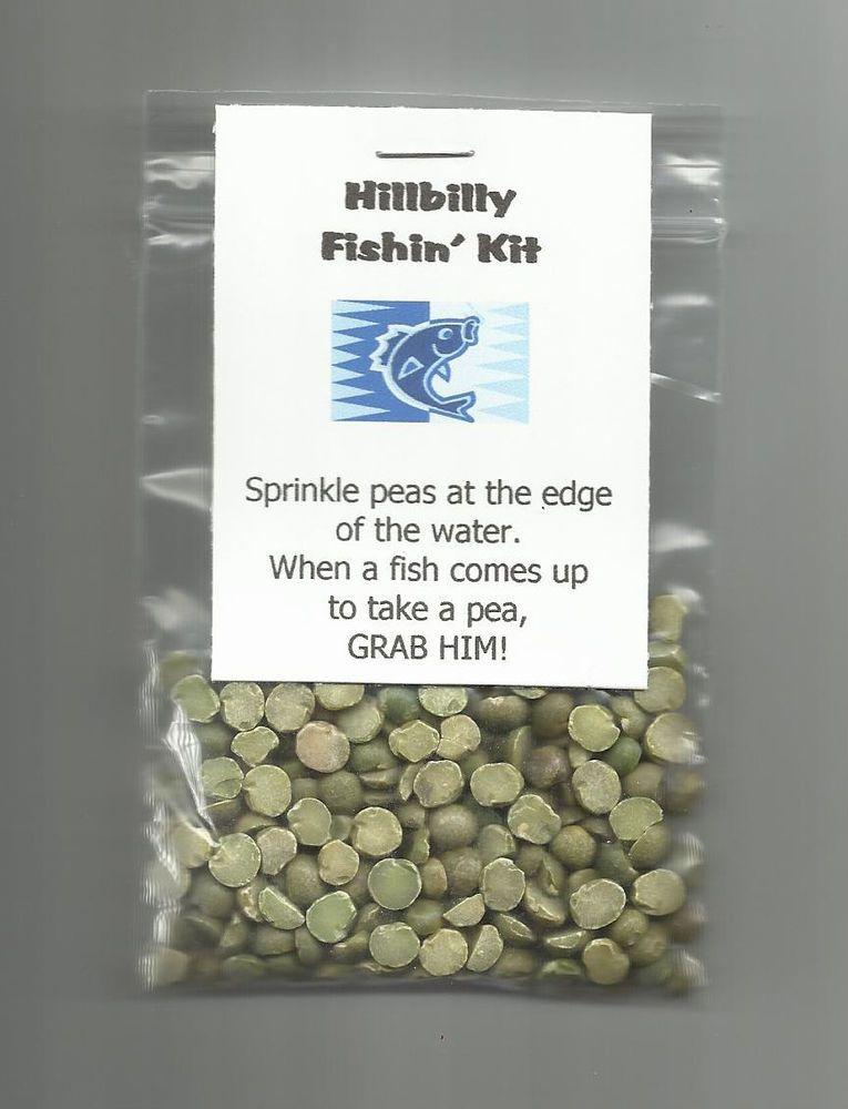 New hillbilly fishin kit novelty gag gift hand fishing