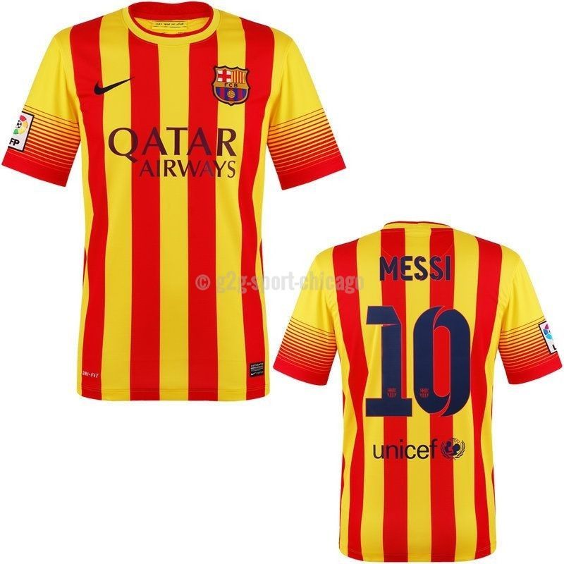 c077753423 Free Fedex 2Day shipping - Usually ships same day - Official Nike Messi  Barcelona jersey for boys and youth - Nike Dri Fit, 100% Polyester, ...