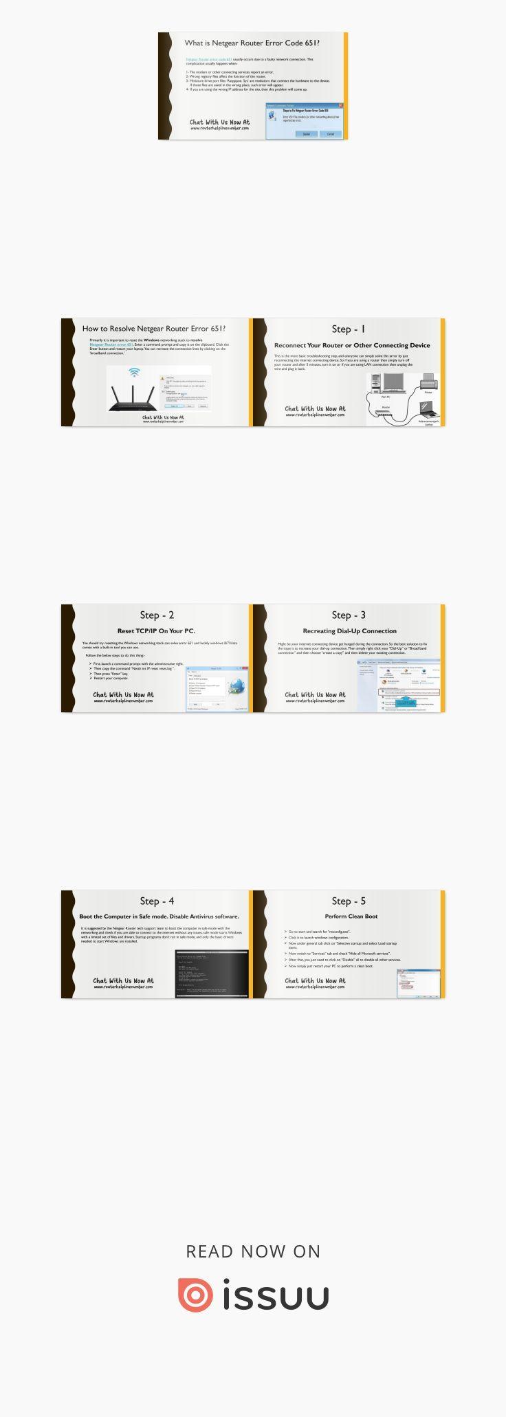 Possible errors behind Netgear error 651 Netgear