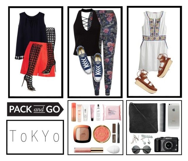 """{ Take Me To • Tokyo }"" by raygrimm ❤ liked on Polyvore featuring New Look, Miss Selfridge, Violeta by Mango, Oscar de la Renta, Gianvito Rossi, Converse, Calypso St. Barth, Stuart Weitzman, Rick Owens and The Body Shop"