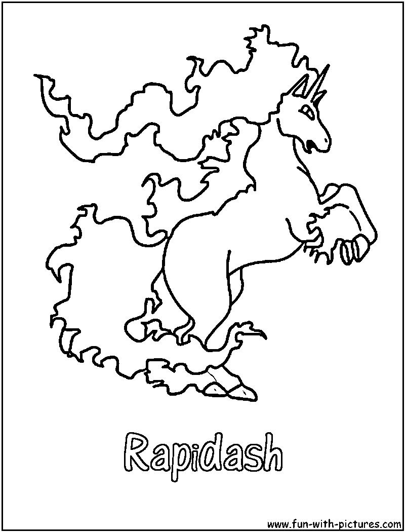 Rapidash Coloring Page Pokemon Coloring Pages Pokemon Coloring Coloring Pages