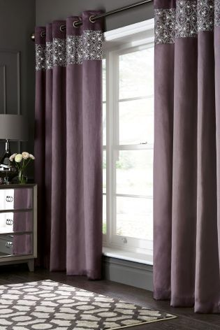 Buy Geo Embellished Sequin Eyelet Curtains From The Next Uk Online Shop Plum Curtains Living Rooms Purple Curtains Living Room Curtains Living Room