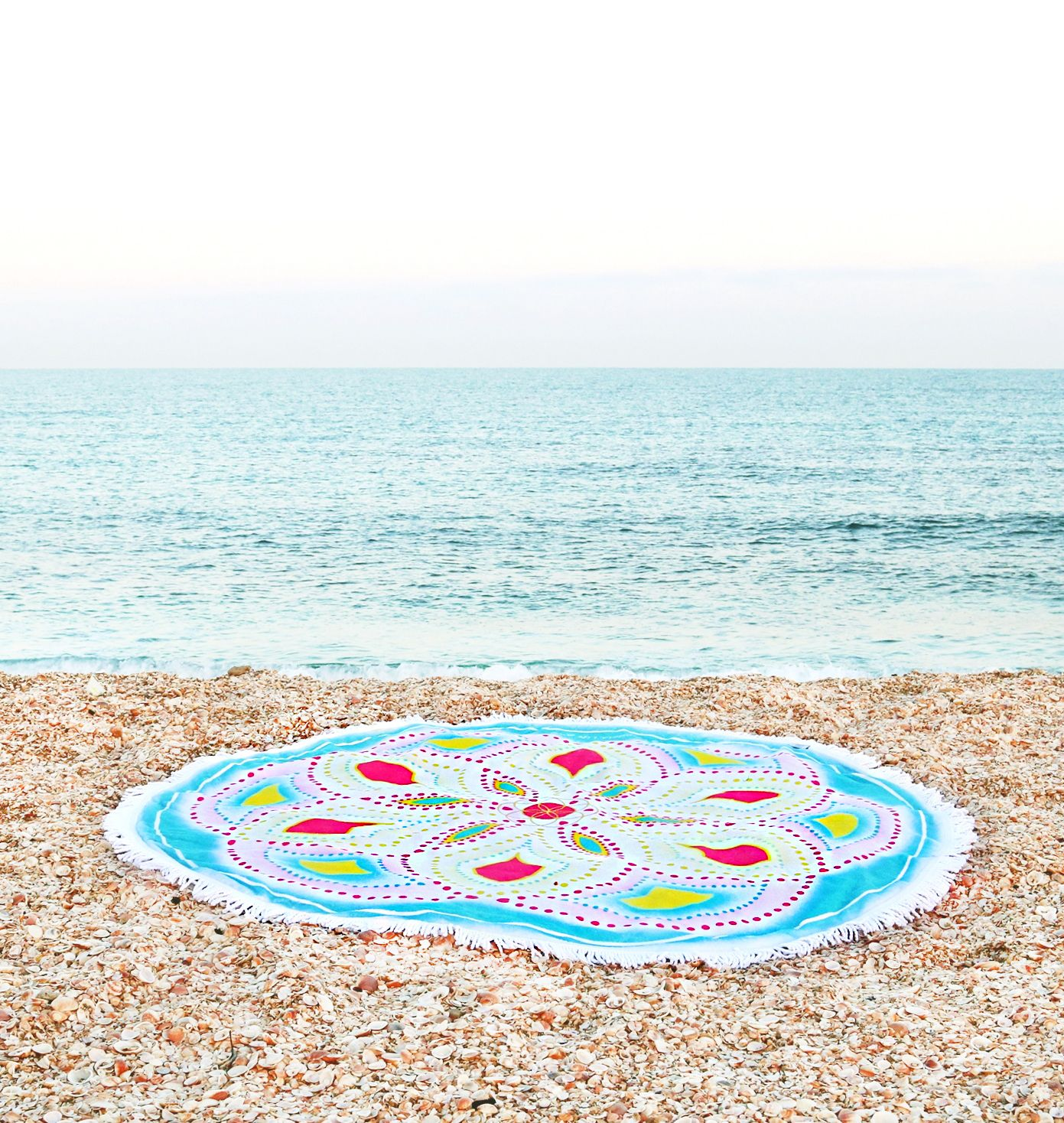 This Amazing Round Terry Beach Towel So Soft And Thick Is
