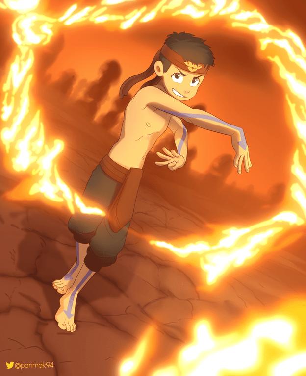 [By Parimak on tumblr] Kuzon firebending 4K