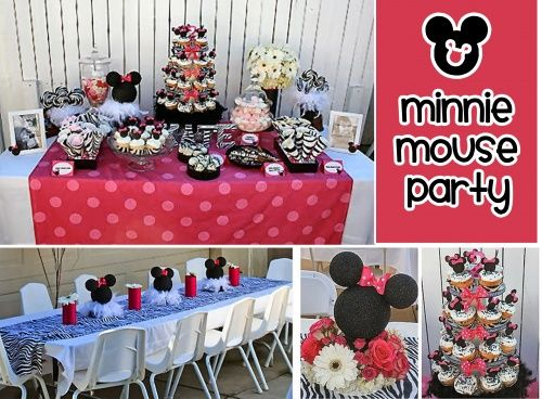 Minnie Mouse 1st birthday party ideas Madisons First Birthday