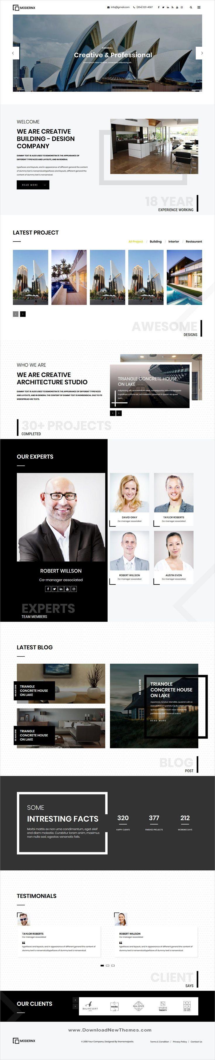 Modernx Architecture & Interior WordPress Theme