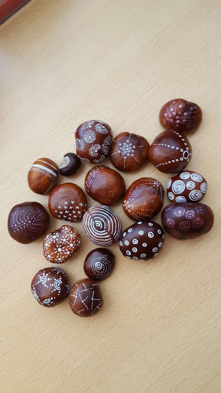 Photo of Chestnuts * autumn *. Paint chestnuts