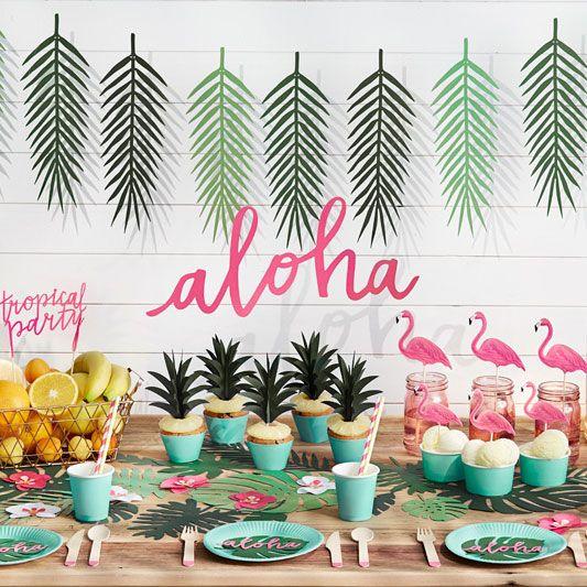 Guirlande en papier Aloha | P@rTy/B!rth@y$/W3dD!nG$/3Tc | Tropical