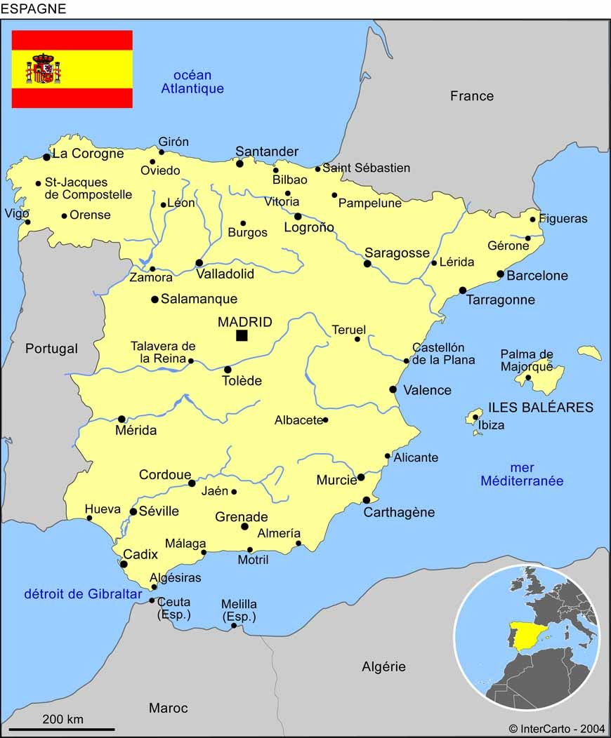Carte de l'Espagne | Espagne | Pinterest | Spain
