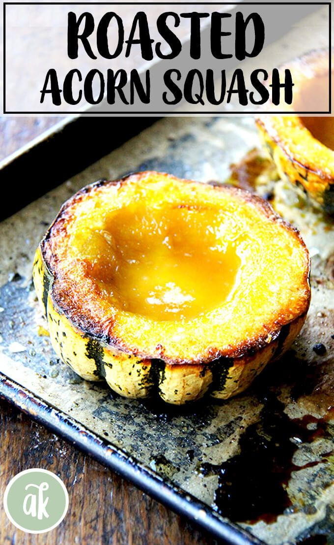 Roasted Acorn Squash with Maple Butter Roasted Acorn Squash with Maple Butter — fast, easy delicious. This is a great one for entertaining but also a great side dish to make all fall and winter long.