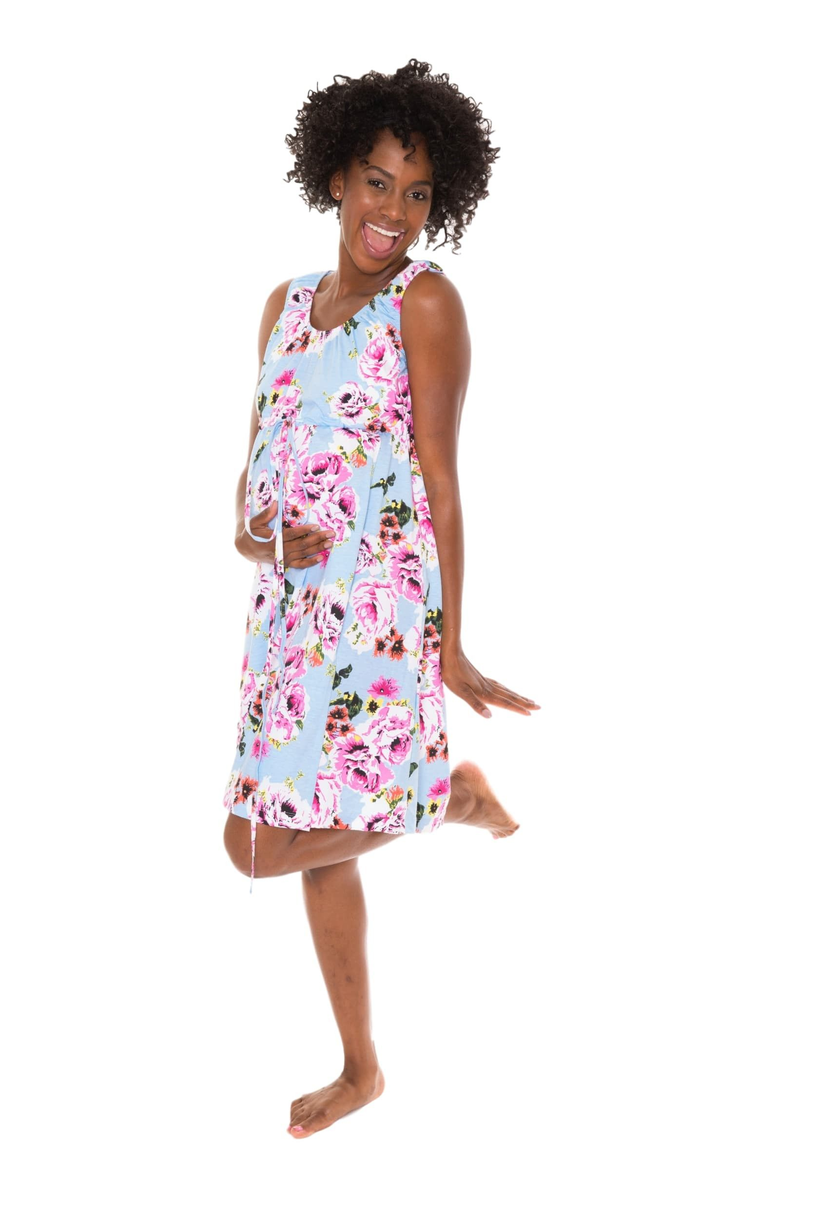 9100b168a8913 This is Labor Gown! Super feminine and functional! The new Isla Floral 3 in 1  Labor / Delivery / Nursing Birthing Gown