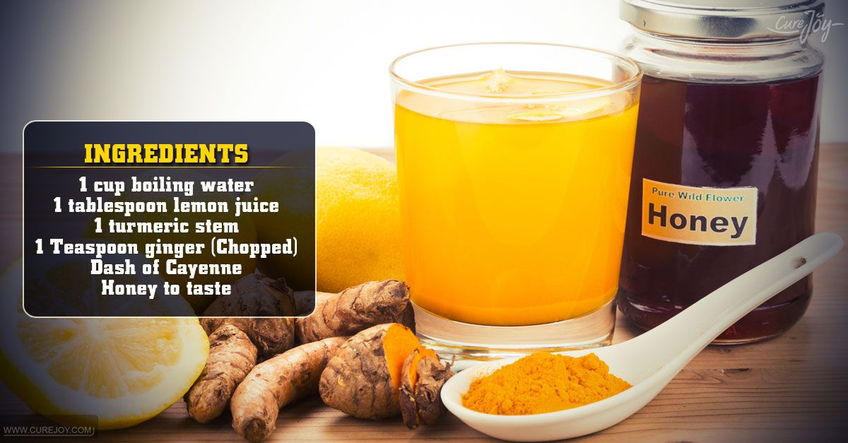 Lemon-Ginger-Turmeric Tea To Detoxify Your Liver | Healthy