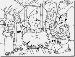 Navidad Nacimiento Para Colorear Dibujos Del Pesebre Nacimiento