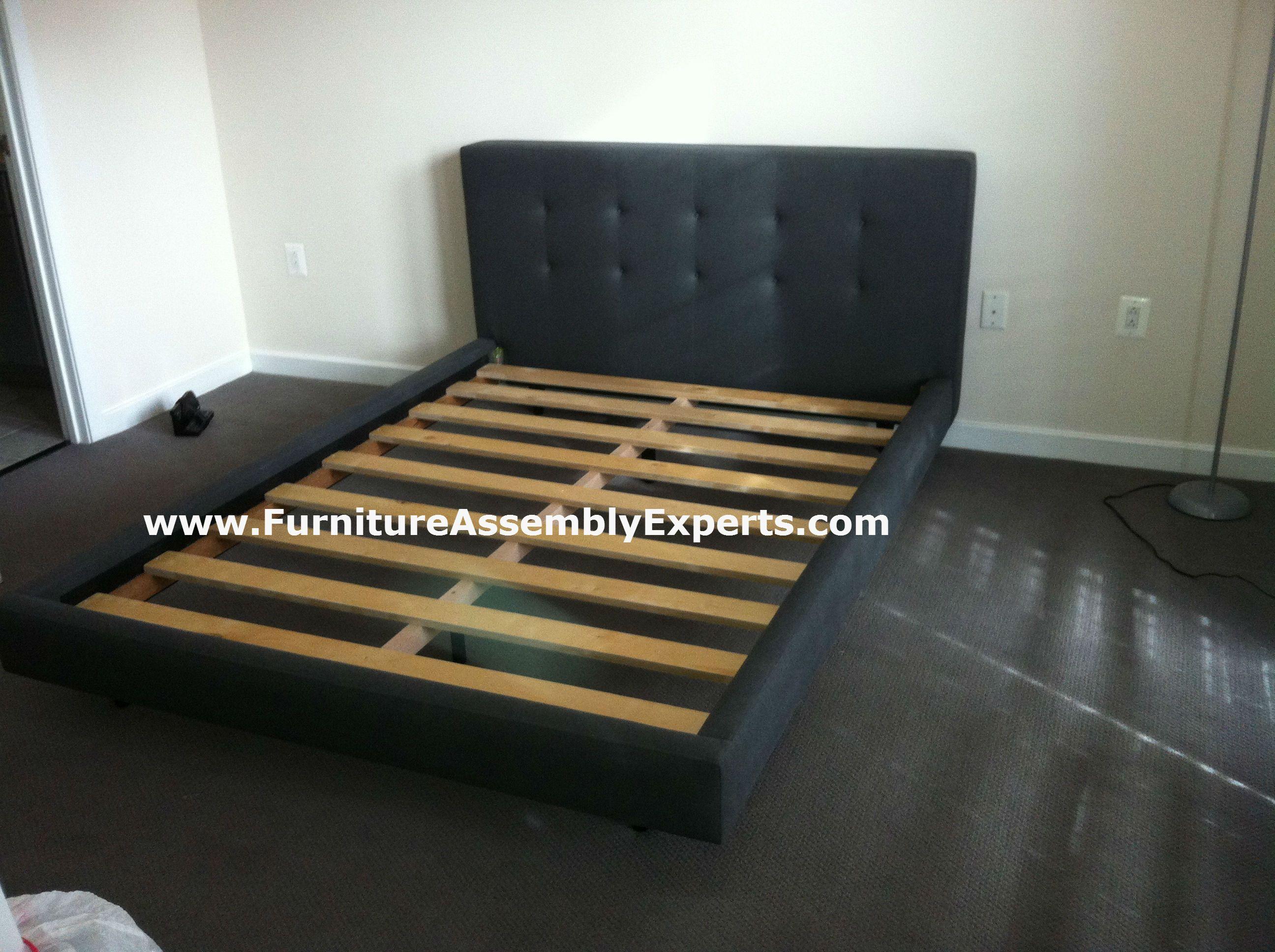 Crate barrel tate queen bed assembled in arlington va by for Ikea arlington va