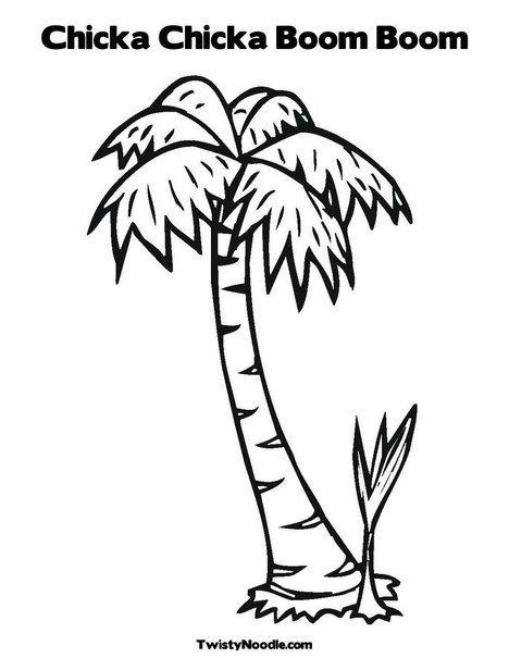 19++ Chicka chicka boom boom coconut tree coloring page HD