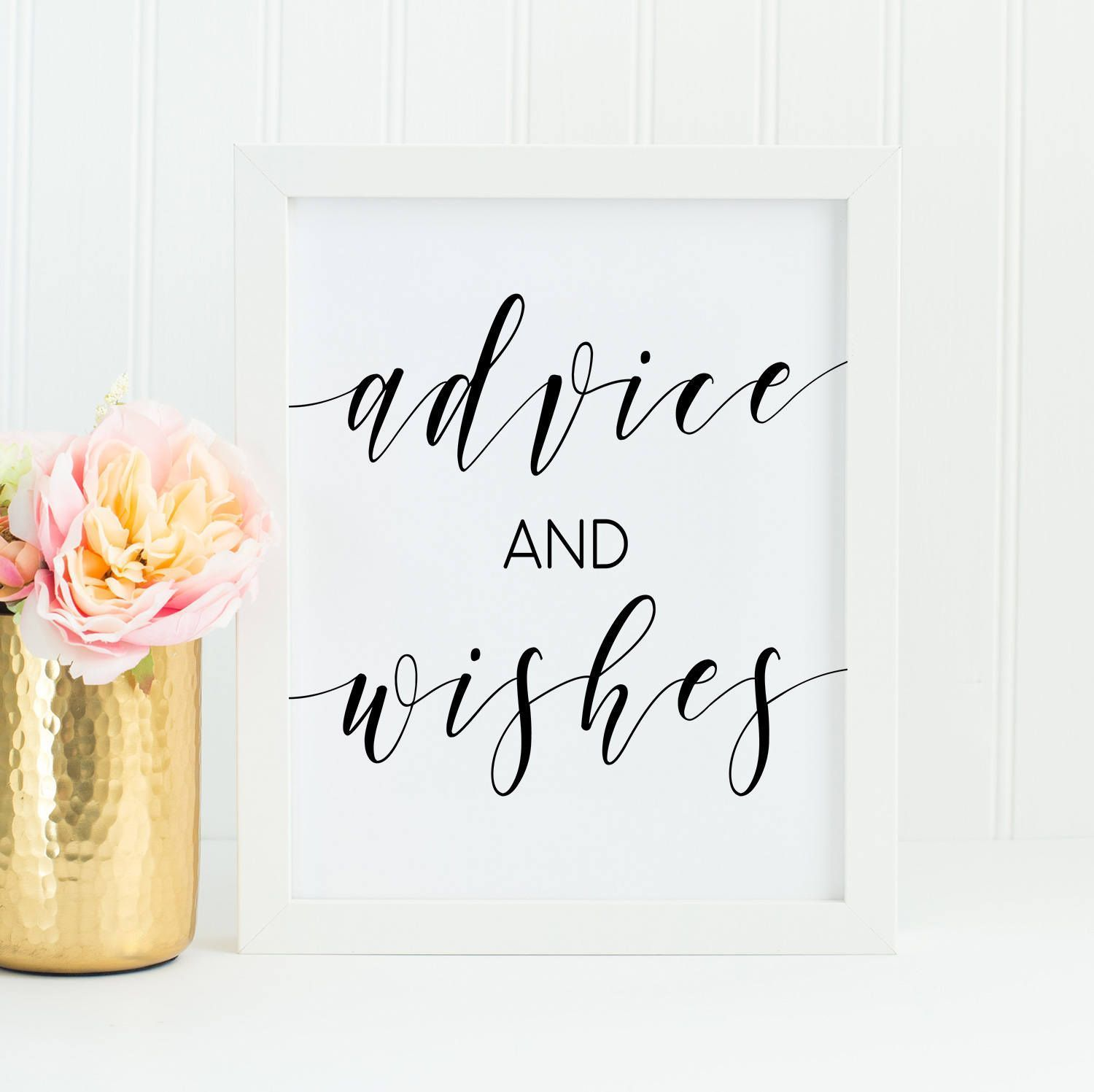 advice and wishes sign printable well wishes sign bridal shower advice baby shower wishes wedding guestobook sign modern10 by thepartybunch on