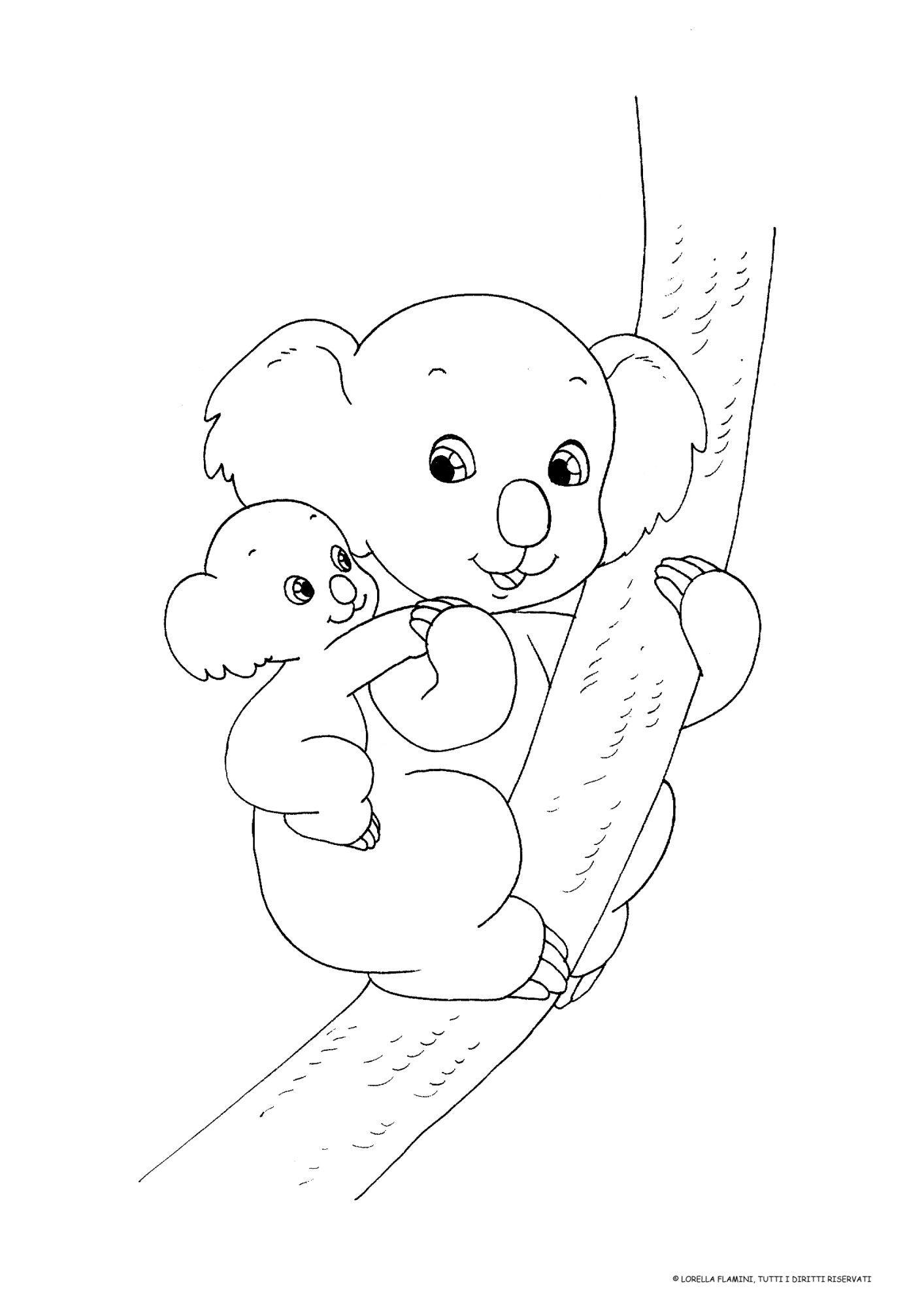 koala disegni da colorare festa della mamma idee scuola