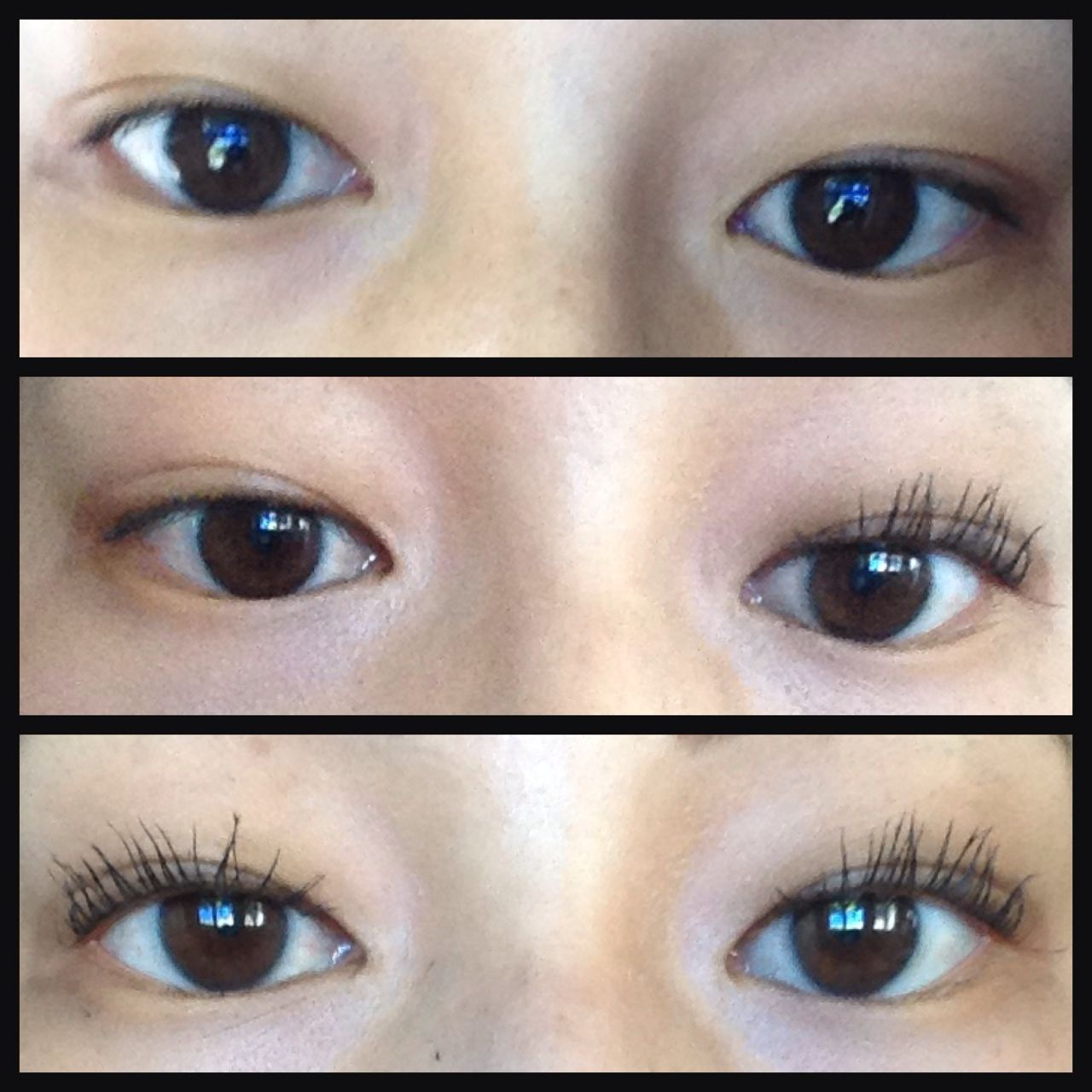 Before and after eye lashes using 3D natural fiber lashes ...