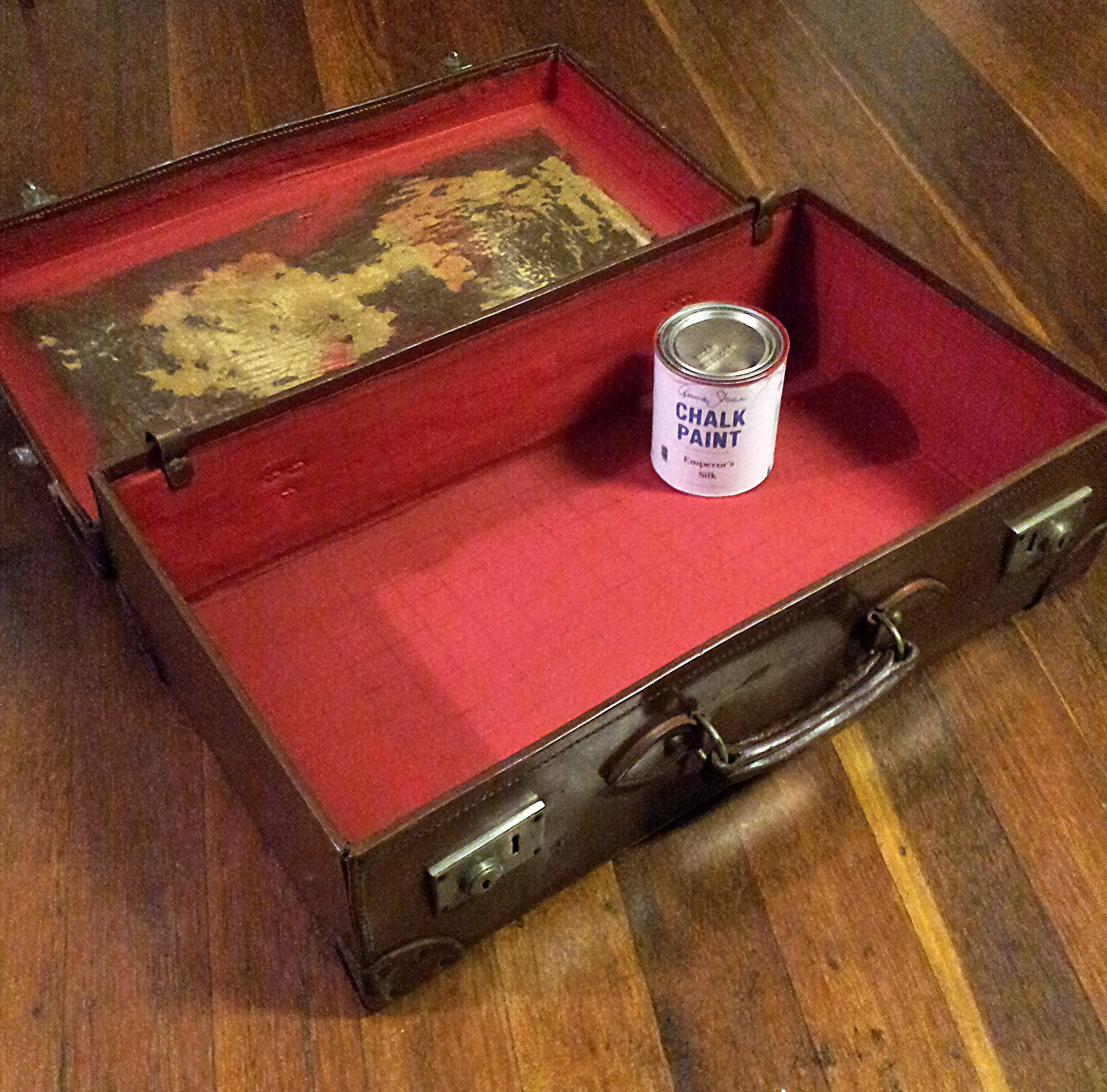 emperor's silk over fabric liner   Chalk paint colors ...