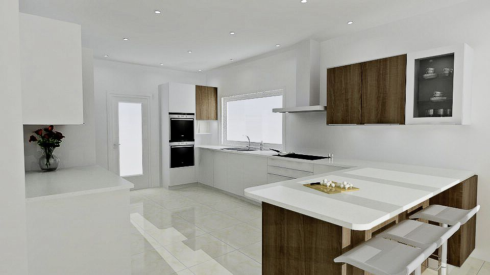 Contrasting Finishes Make For The Perfect Kitchen Design Free 3D Stunning 3D Kitchen Design Software Free Inspiration