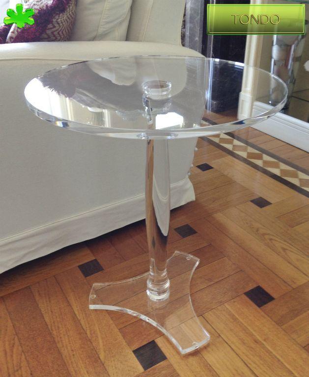 Tavolo Tondo Plexiglass.Tavolini In Plexiglas Angolari Tavolino Trasparente In