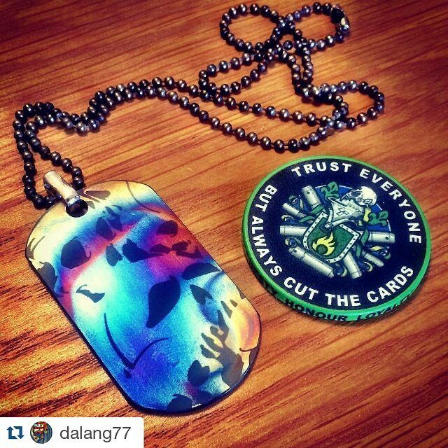 #Repost @dalang77  Splendid mail call from @tisurvival! Titanium dog tag with sterling clasp and Beaded Chain in Hot Spots Anodizing. Yep I'm preparing for summer! #titanium #tisurvival #dogtag #beadedchain #chain #hotspots #hotspot #anodizing #anodize www.tisurvival.com #edc #igfashion